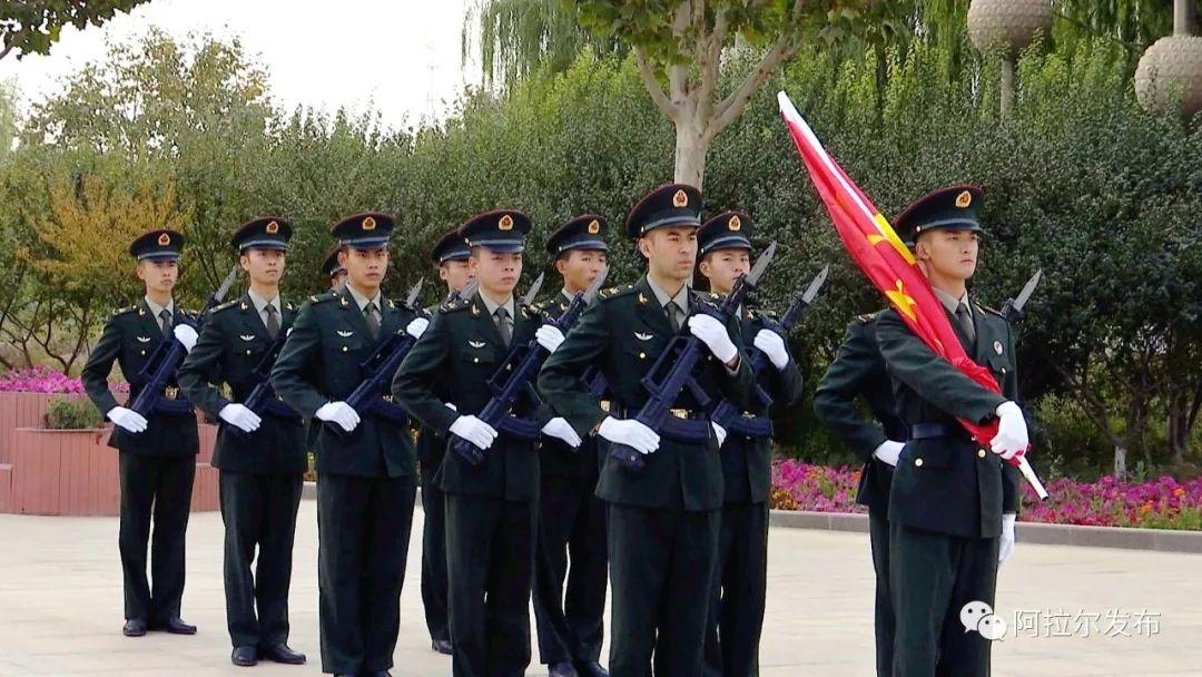 师市举行庆祝中华人民共和国成立71周年升旗仪式